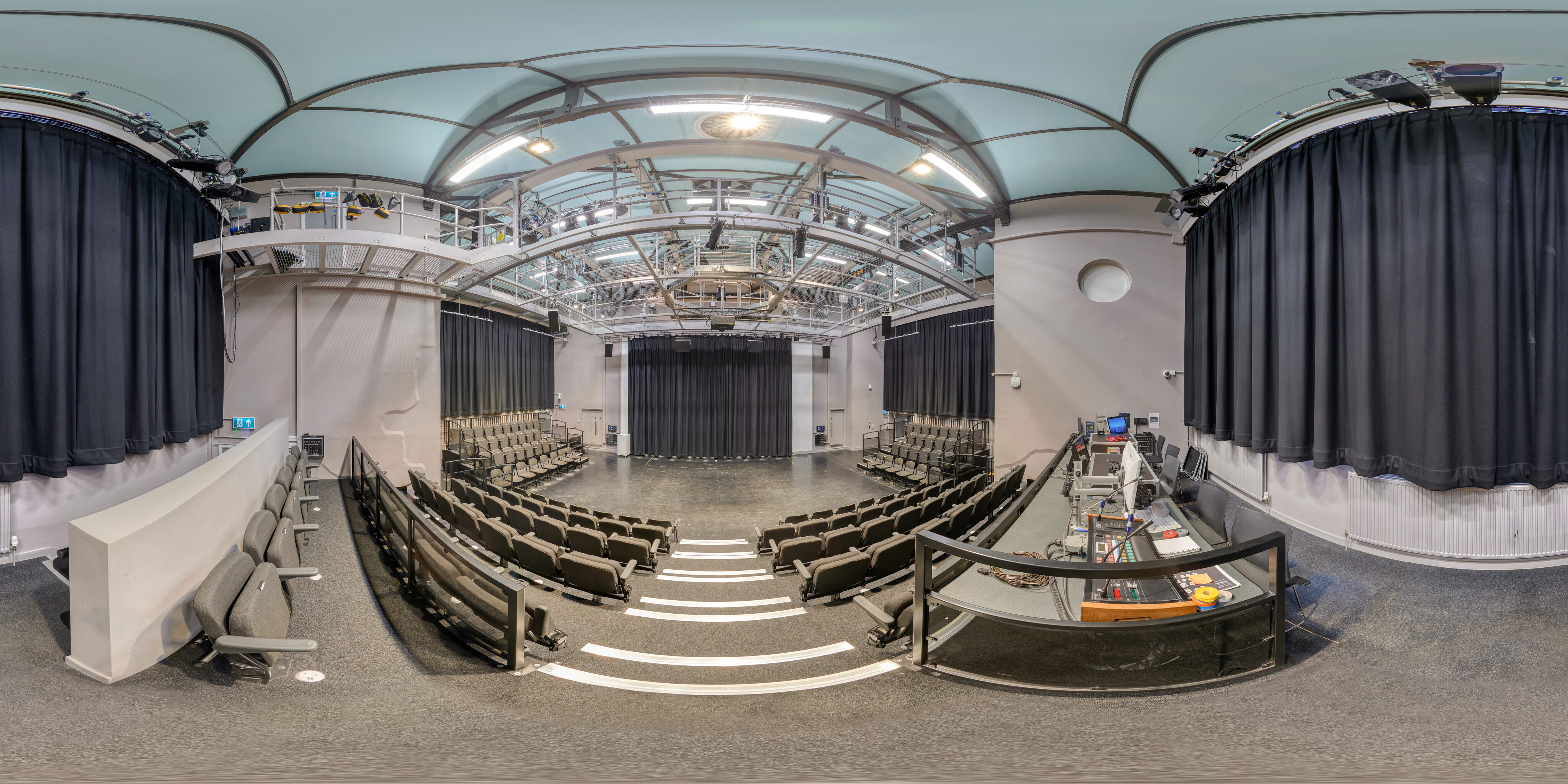 360 of George Wood Theatre