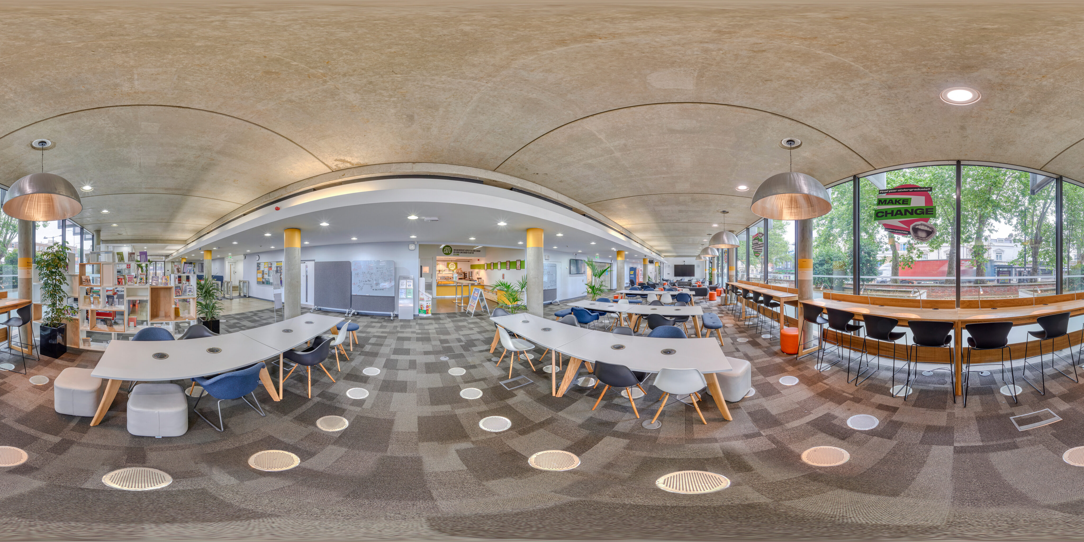 360 of Library downstairs