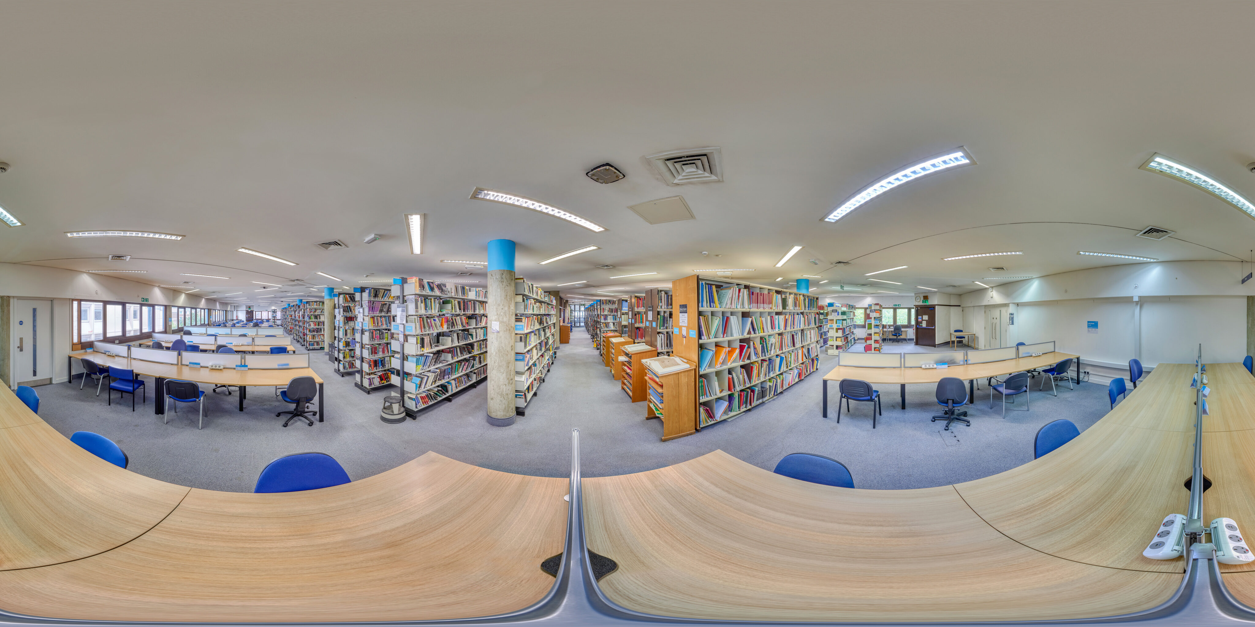 360 of Library upstairs